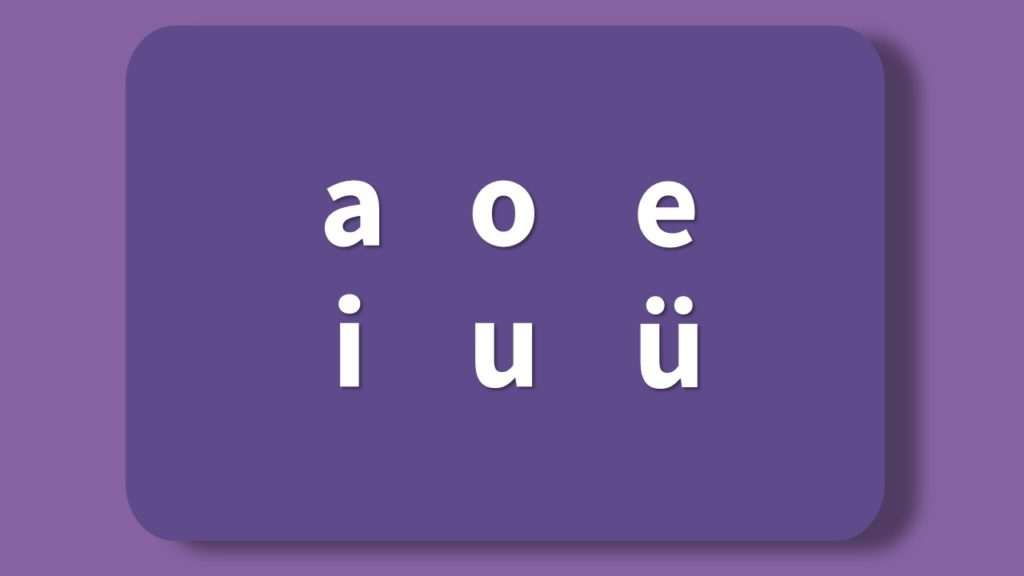 Chinese alphabet vowels all